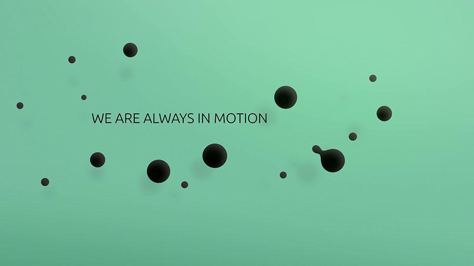 Ausschnitt aus der Bürkert vier Werte Animation - Schriftzug
