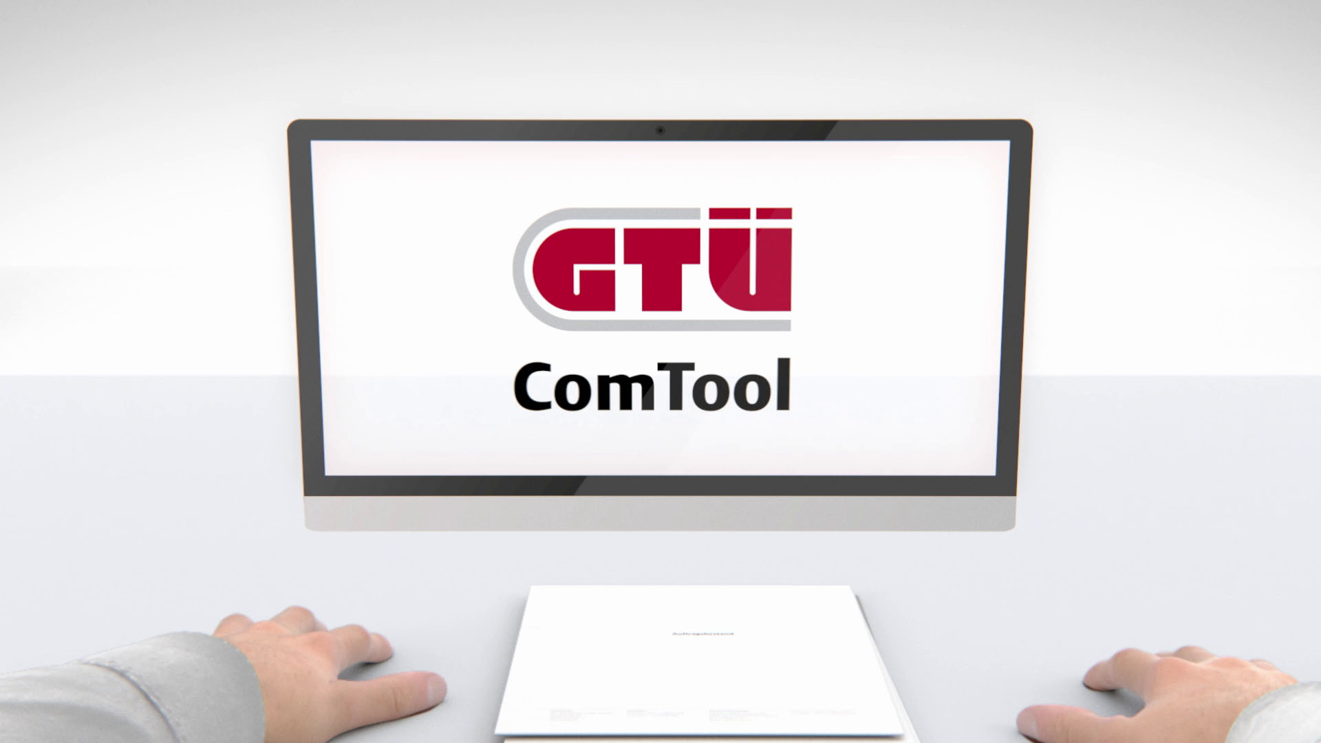 Ausschnitt aus GTÜ Hands Motion Capture - Bildschirm mit Logo der Software