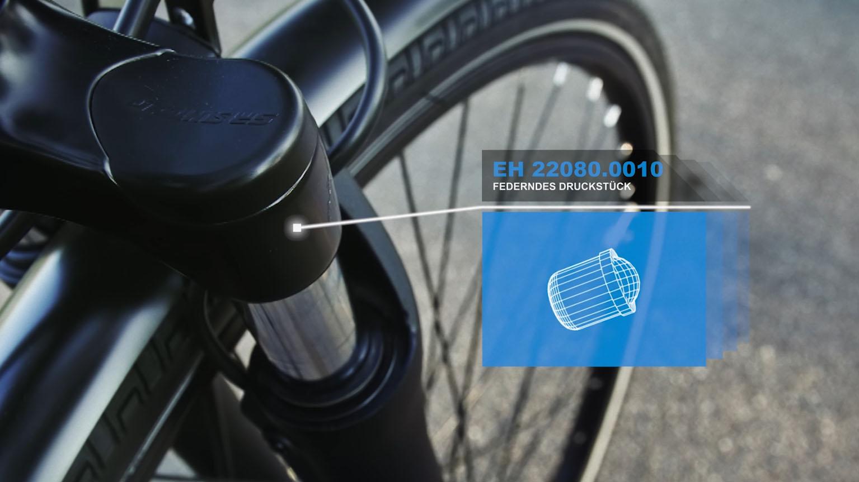 Aus dem Halder Inside Imagefilm - Halder-Produkt in Fahrradgabel