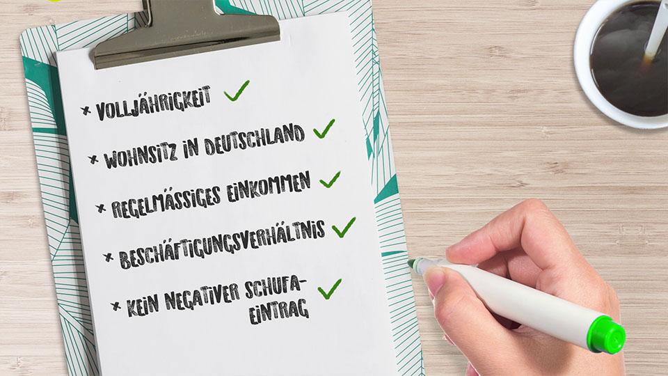 Checkliste Kredit aufnehmen
