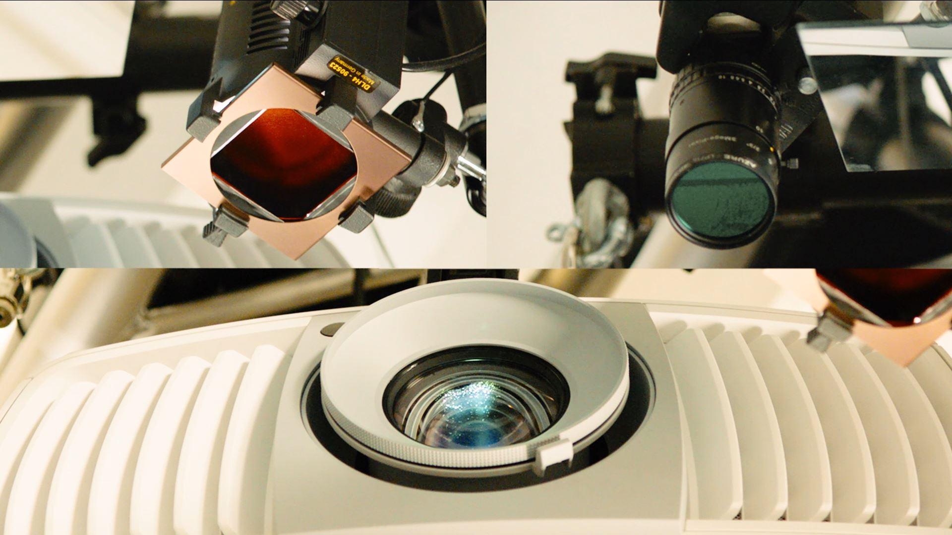 Ausschnitt aus dem Fontane interakitv Film - Splitscreen Infrarotkamera, Infrarotsensor, Projektor