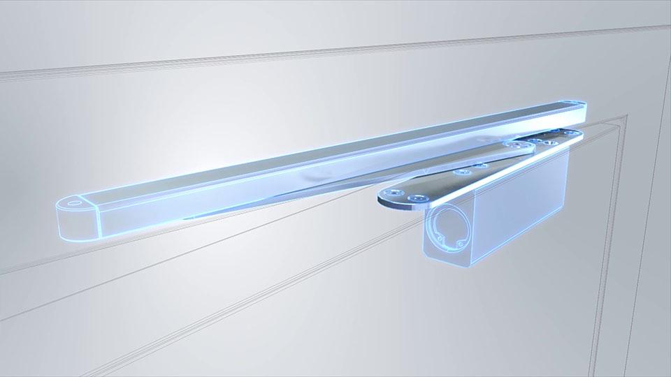 Ausschnit aus der GEZE Active Stop 3D-Animation - Röntgenblick Active Stop