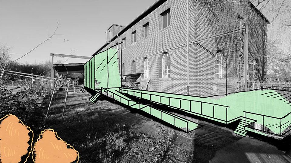 Ausschnitt aus IBA Heidelberg Wissen Schafft Stadt - Bauerweiterung anhand von 2D Animation
