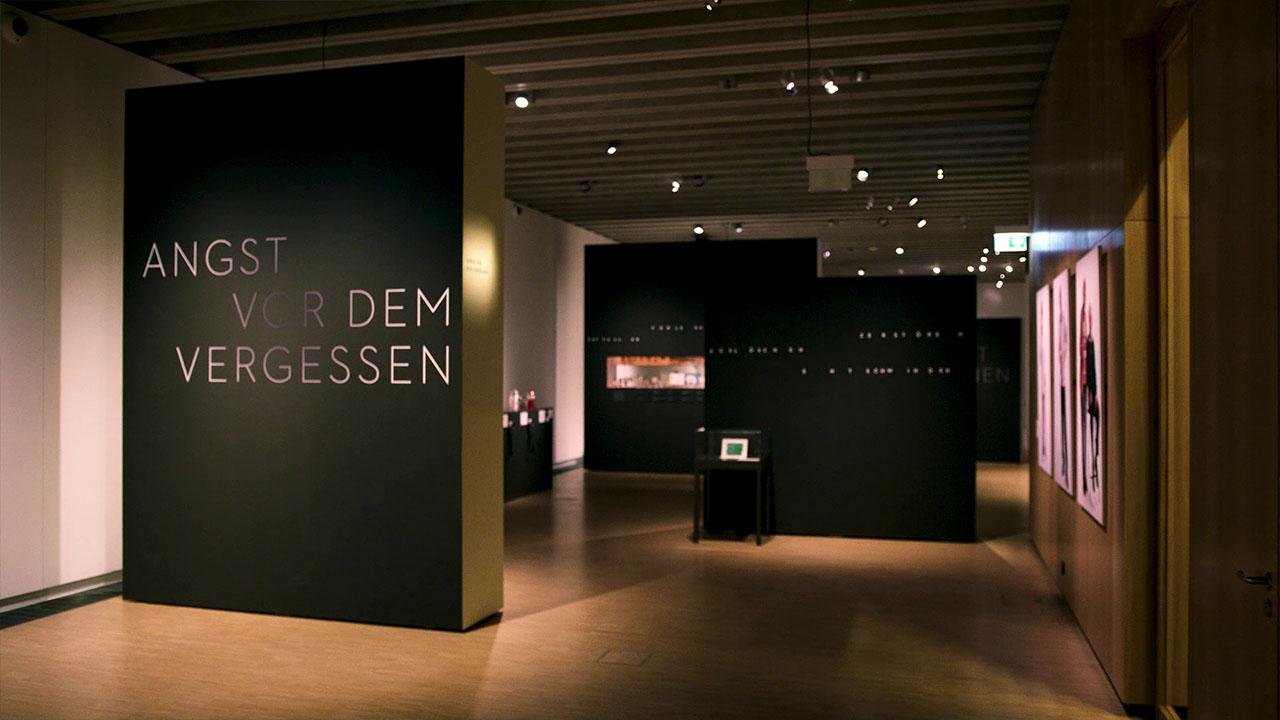 Vergessen Interaktiver Tisch - Museumsraum Frankfurt