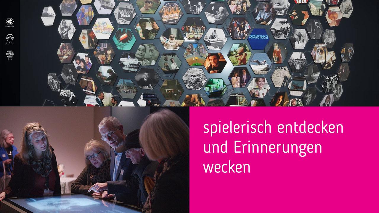 Ausschnitt aus Making-Of - Museum Frankfurt Vergessen Interaktiver Tisch - Splitscreen