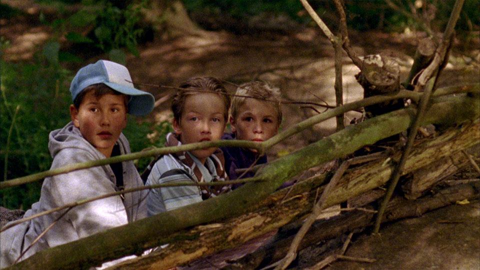 Ausschnitt aus dem Superfinn Kinderfilm - Drei Jungs hinter Ästen
